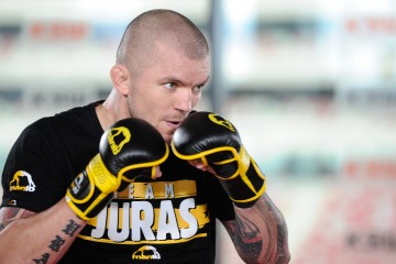 2017.05.24 Warszawa MMA Trening medialny przed KSW 39 Colosseum N/z Lukasz Juras Jurkowski Foto Rafal Oleksiewicz / PressFocus