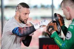 2017.05.24 Warszawa MMA Trening medialny przed KSW 39 Colosseum N/z Mateusz Gamrot Foto Rafal Oleksiewicz / PressFocus
