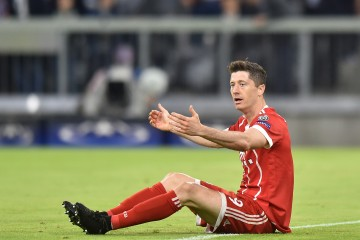 2018.04.25 Munchen Pilka nozna UEFA Liga Mistrzow Polfinal Ligi Mistrzow Bayern Monachium - Real Madryt N/z Robert Lewandowski Foto Lukasz Laskowski / Press Focus  2018.04.25 Munchen Football UEFA Champions League  Semifinal Bayern Monachium - Real Madryt Robert Lewandowski Credit: Lukasz Laskowski / Press Focus