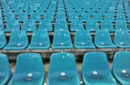 13.10.2009 KATOWICE STADION SLASKI PILKA NOZNA KONFERNCJA KADRY POLSKIEJ NA STADIONIE SLASKIM N/Z STADION SLASKI TUZ PRZED ROZPOCZECIEM TRENINGU PILKARZY FOTO RAFAL JACNIAK / PRESSFOCUS