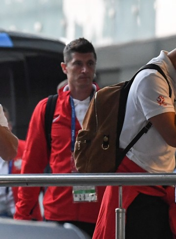 2018.06.25 Soczi Pilka nozna  Powrot reprezentacji Polski z meczu Polska - Kolumbia, ktory odbyl sie w Kazaniu Foto: Press Focus  2018.06.25 Sochi   Polish  Football National Team is caming back from Kazan after Poland - Columbia match Photo: Press Focus