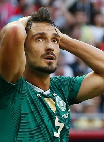 Mats Hummels dejected / Sport / Football Football / FIFA WM World Cup Russland Russia 2018 / Saison 2017/2018 / 27.06.2018 / South Korea vs. Germany GER   27.06.2018 Kazan Pilka nozna Mistrzostwa Swiata Rosja 2018 Niemcy - Korea Poludniowa Foto: Pixathlon / Sipa / Pressfocus POLAND ONLY!!!